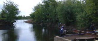 Ловля рыбы на канале