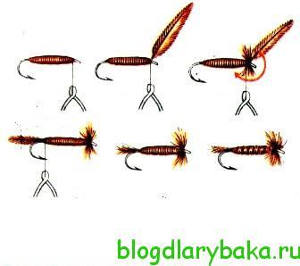 Вязание мушки