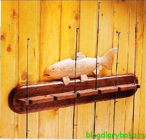 Стенд для рыболовных удилищ своими руками