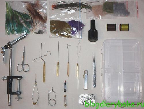 Набор инструментов для вязания нахлыстовых мушек своими руками